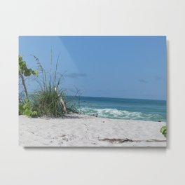 Beach scene at Manasota Key Florida Metal Print
