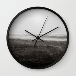 Kentucky from a Hot Air Balloon - Black and White Wall Clock