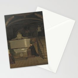 Martinus Rørbye - The Crypt in the Monastry of San Benedetto in Subiaco, Italy Stationery Cards