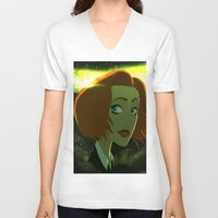 dana scully V-neck T-shirts featuring Scully  by Annalisa Leoni