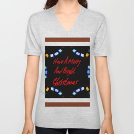 Have A Merry And Bright Christmas Unisex V-Neck