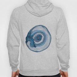 Blue Agate Painting Hoody