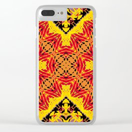 ethnic cross red Clear iPhone Case