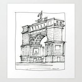 Arch D'Triumph Art Print