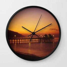 Malibu Pier Sunset * Southern California Wall Clock