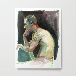 JOEY, Semi-Nude Male by Frank-Joseph Metal Print