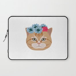 Cat Lover Kitten Flower Summer Sun Feline Gift Laptop Sleeve