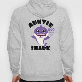 Auntie Shark design Gift - Cute Baby Shark Matching Family Hoody