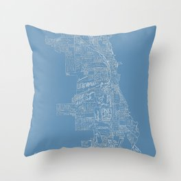Communities of Chicago Throw Pillow