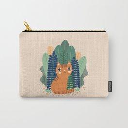 Orange Garden Cat Carry-All Pouch