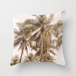 Palm Trees | Landscape Photography | Beach | Sand Colors | Tropical | Summer Vibes Throw Pillow