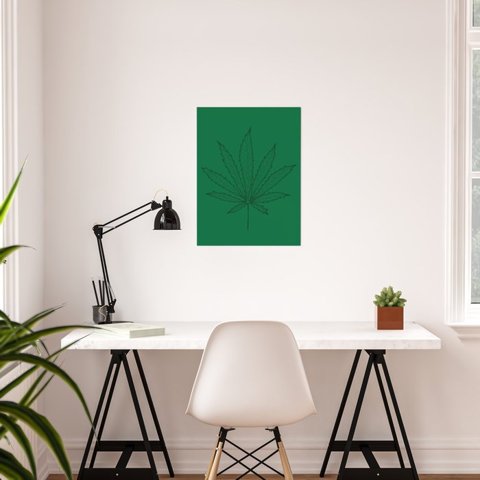 Cannabs leaf Poster