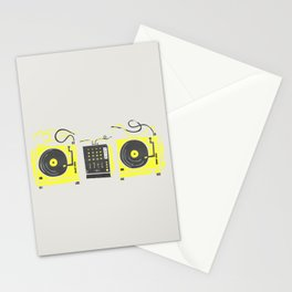 DJ Vinyl Decks And Mixer Stationery Cards
