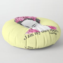 I am my own muse Floor Pillow