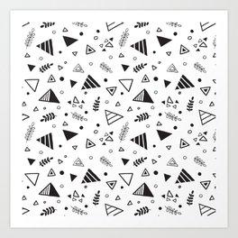 Organic Triangles Art Print