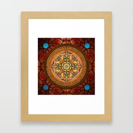 Mandala Arabia Framed Art Print