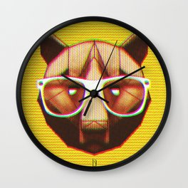 3D GEEKY GRIZZLY BEAR Wall Clock