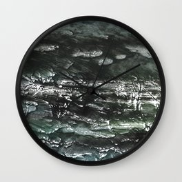 Gray green watercolor Wall Clock