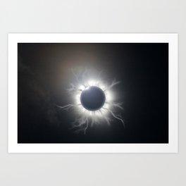 Cursed Eclipse Art Print