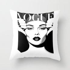 VOGUE PRINT Fashion Poster Digital Download Printable Art Retro Poster Modern Wall  Art Vintage Throw Pillow