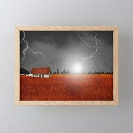 Lightning Strike Framed Mini Art Print