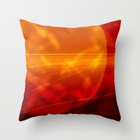 mars Throw Pillows featuring Mars by renajoy