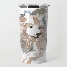watercolor dog vol 14 samoyed Travel Mug