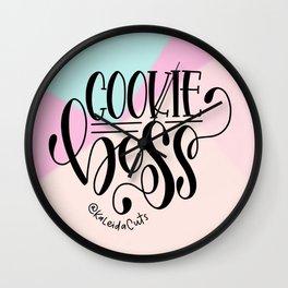 Cookie Boss Color Block Design Wall Clock