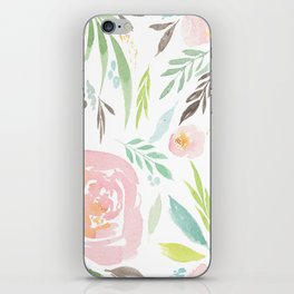 Pastel Florals iPhone Skin