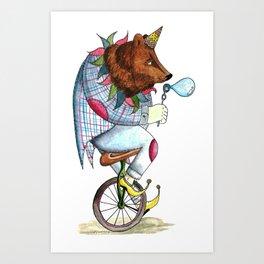 The Bear- Circus Series Art Print