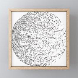 Planet Surface Circle Framed Mini Art Print