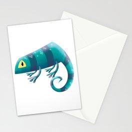 Chameleon Blue Blueming Stationery Cards