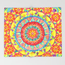 Sun Mandala Throw Blanket