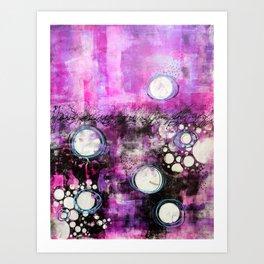 Magenta Abstract Art Print