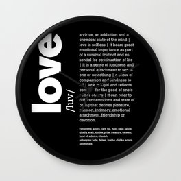 Define LOVE w/b Wall Clock