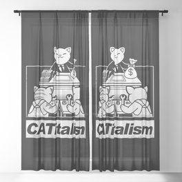 CaTitalism Sheer Curtain