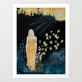 Solsken Art Print