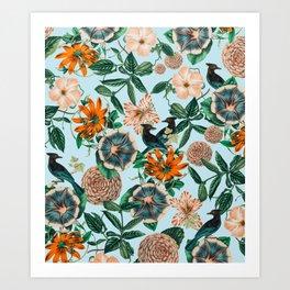 Forest Birds #nature #tropical Art Print
