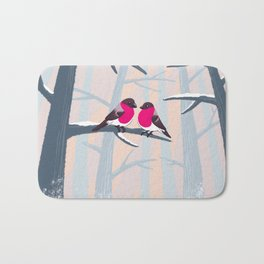 Couple in pink Bath Mat