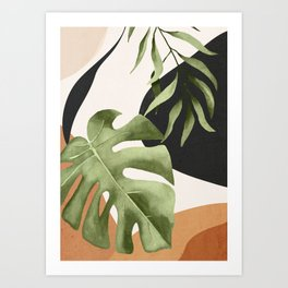 Abstract Art Tropical Leaves 23 Art Print