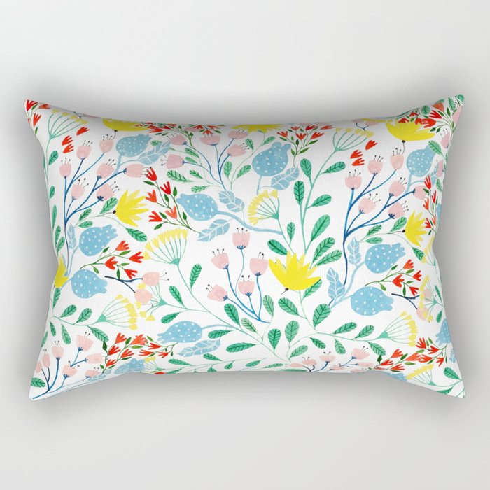 Floral Garden Rectangular Pillow
