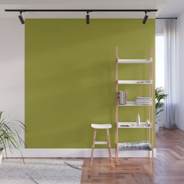 Golden lime solid color Wall Mural