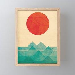The ocean, the sea, the wave Framed Mini Art Print