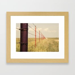 Fence Line Framed Art Print