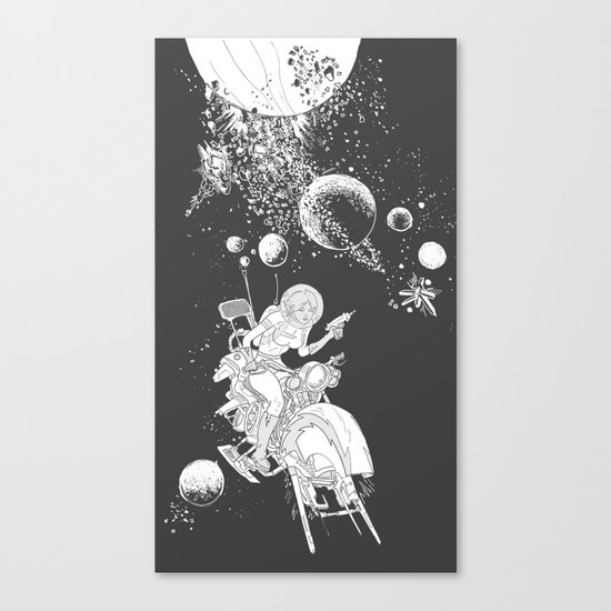 rocket lass Canvas Print