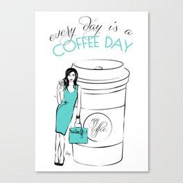 Coffee Quote  Canvas Print