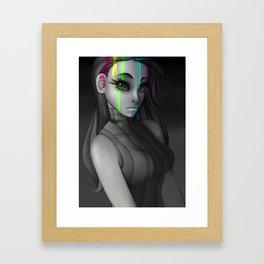 Grayscale Girl Framed Art Print