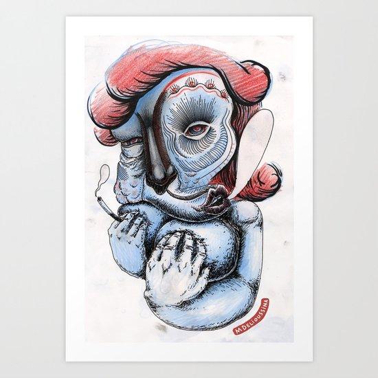 Misty Puff Art Print