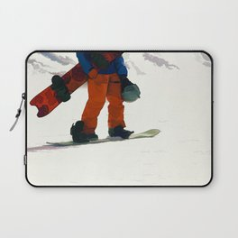 Ready to Ride! - Snowboarder Laptop Sleeve