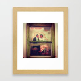 All memories are traces of tears Framed Art Print